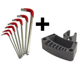 Reloading Press Tool Holder & Hex Key Set