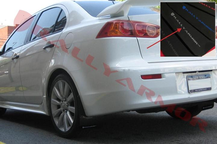 Rally Amor 07+ Mitsubishi Lancer Urethane Mud Flaps