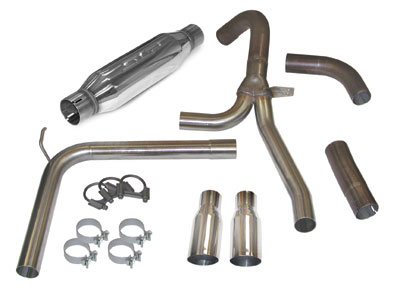 """SLP 98-02 Fbody LS1 Loudmouth Exhaust w/ 3.5"""" Tips"""