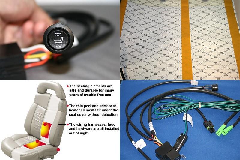 Automotive Single Seat Heater Kit  Universal OEM Style